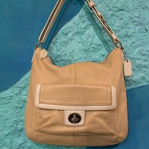 Coach Purse, Light Tan, Nearly New Condition